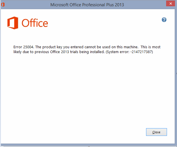 Instalar Office 2013 y activarlo Solución al error 25004